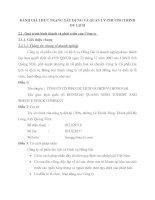 ĐÁNH GIÁ THỰC TRẠNG XÂY DỰNG VÀ QUẢN LÝ CHƯƠNG TRÌNH DU LỊCH
