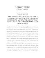 LUYỆN ĐỌC TIẾNG ANH QUA TÁC PHẨM VĂN HỌC-Oliver Twist -Charles Dickens -CHAPTER 23