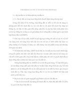 THẨM ĐỊNH DỰ ÁN  ĐẦU TƯ CỦA NGÂN HÀNG THƯƠNG MẠI