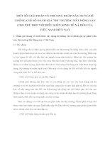 MỘT SỐ GIẢI PHÁP VỀ PHƯƠNG PHÁP XÂY DỰNG HỆ THỐNG CHỈ SỐ ĐÁNH GIÁ THỊ TRƯỜNG BẤT ĐỘNG SẢN CHO PHÙ HỢP VỚI ĐIỀU KIỆN KINH TẾ XÃ HỘI CỦA VIỆT NAM HIỆN NAY