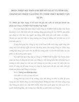 HOÀN THIỆN KẾ TOÁN CHI PHÍ SẢN XUẤT VÀ TÍNH GIÁ THÀNH SẢN PHẨM TẠI CÔNG TY TNHH THIẾT BỊ ĐIỆN VẠN XUÂN