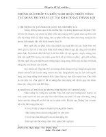 NHỮNG GIẢI PHÁP VÀ KIẾN NGHỊ HOÀN THIỆN CÔNG TÁC QUẢN TRỊ NHÂN LỰC TẠI KHÁCH SẠN THẮNG LỢI