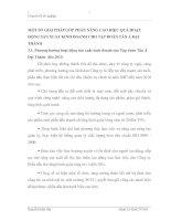 MỘT SỐ GIẢI PHÁP GÓP PHẦN NÂNG CAO HIỆU QUẢ HOẠT ĐỘNG SẢN XUẤT KINH DOANH CHO TẬP ĐOÀN TÂN Á ĐẠI THÀNH
