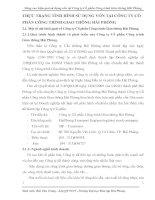 THỰC TRẠNG TÌNH HÌNH SỬ DỤNG VỐN TẠI CÔNG TY CỔ PHẦN CÔNG TRÌNH GIAO THÔNG HẢI PHÒNG