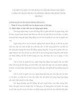 VAI TRÒ CỦA ĐẦU TƯ TÍN DỤNG VÀ VẤN ĐỀ NÂNG CAO CHẤT LƯỢNG TÍN DỤNG TRUNG VÀ DÀI HẠN TRONG NỀN KINH TẾ THỊ TRƯỜNG
