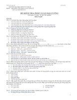 Đề thi kiểm tra Pháp Luật Đại cương - Đề số 3