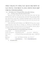 THỰC TRẠNG VỀ CÔNG TÁC QUẢN TRỊ NHÂN SỰ TẠI TRUNG TÂM DỊCH VỤ BƯU PHẨM TÍCH HỢP (TRUNG TÂM DATAPOST)
