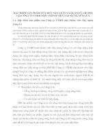 ĐẶC ĐIỂM SẢN PHẨM TỔ CHỨC SẢN XUẤT VÀ QUẢN LÝ CHI PHÍ TẠI CÔNG TY TNHH MỘT THÀNH VIÊN XÂY DỰNG LŨNG LÔ
