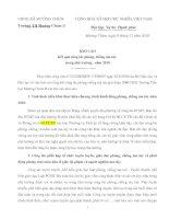 báo cáo kết quả phong chông ma túy 2010 trong nhà trường