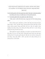 GIẢI PHÁP ĐẨY MẠNH XUẤT KHẨU HÀNG MAY MẶC CỦA CÔNG TY CỔ PHẦN MAY 10 SANG THỊ TRƯỜNG HOA KỲ