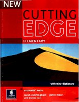 New cutting edge elementary students book