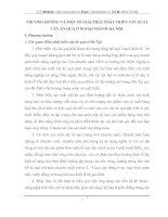 PHƯƠNG HƯỚNG VÀ MỘT SỐ GIẢI PHÁP PHÁT TRIỂN SẢN XUẤT CÂY ĂN QUẢ Ở NGOẠI THÀNH HÀ NỘI