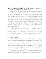 MỘT SỐ Ý KIẾN NHẬN XÉT VÀ ĐÁNH GIÁ VỀ CÔNG TÁC KẾ TOÁN TẠI CÔNG TY CƠ KHÍ Ô TÔ 3-2