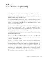 An e-business glossary