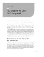 Ajax Enabling the Date Field Component