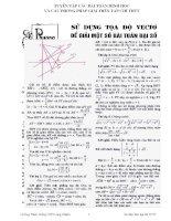 Sử dụng tọa độ vecto để giải một số bài toán đại số