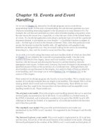 Events and Event Handling