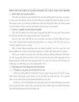 MỘT SỐ VẤN ĐỀ LÝ LUẬN CƠ BẢN VỀ TIÊU THỤ SẢN PHẨM