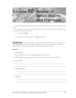 Grammar And Usage For Better Writing - Review of Verbs, Nouns, and Pronouns