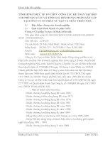 TÌNH HÌNH THỰC TẾ TỔ CHỨC CÔNG TÁC KẾ TOÁN TẬP HỢP CHI PHÍ SẢN XUẤT VÀ TÍNH GIÁ THÀNH SẢN PHẨM XÂY LẮP TẠI CÔNG TY CỔ PHẦN TU TẠO VÀ PHÁT TRIỂN NHÀ