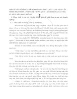 MỘT SỐ VẤN ĐỀ LÍ LUẬN VỀ HỆ THỐNG QUẢN LÝ CHẤT LƯỢNG VÀ SỰ CẦN THIẾT PHÁT TRIỂN ÁP DỤNG HỆ THỐNG QUẢN LÝ CHẤT LƯỢNG TẠI CÔNG TY XĂNG DẦU HÀNG KHÔNG.