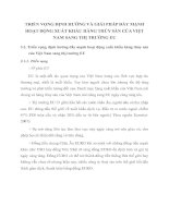 TRIỂN VỌNG ĐỊNH HƯỚNG VÀ GIẢI PHÁP ĐẨY MẠNH HOẠT ĐỘNG XUẤT KHẨU HÀNG THỦY SẢN CỦA VIỆT NAM SANG THỊ TRƯỜNG EU