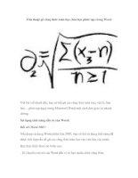 Thủ thuật gõ công thức toán học, hóa học phức tạp trong Word