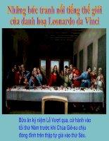 Tranh nổi tiếng TG của Leonardo Da Vinci