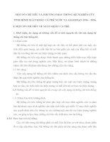 MỘT SỐ CHỈ TIÊU VÀ PHƯƠNG PHÁP THỐNG KÊ NGHIÊN CỨU TÌNH HÌNH XUẤT KHẨU CÀ PHÊ NƯỚC TA GIAI ĐOẠN 1996 – 2006.