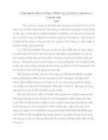 GIẢI PHÁP TĂNG CƯỜNG CÔNG TÁC QUẢN LÝ CHUNG CƯ TẠI HÀ NỘI