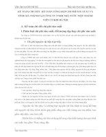 KẾ TOÁN CHI TIẾT  KẾ TOÁN TỔNG HỢP CHI PHÍ SẢN XUẤT VÀ TÍNH GIÁ THÀNH TẠI CÔNG TY TNHH NHÀ NƯỚC MỘT THÀNH VIÊN CƠ KHÍ HÀ NỘI