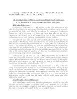 Chương I CƠ SỞ LÝ LUẬN VỀ CÔNG TÁC QUẢN LÝ VÀ SỦ DỤNG NHÂN LỰC TRONG KHÁCH SẠN