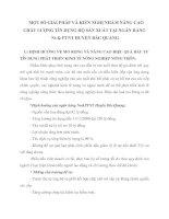 MỘT SỐ GIẢI PHÁP VÀ KIẾN NGHỊ NHẰM NÂNG CAO CHẤT LƯỢNG TÍN DỤNG HỘ SẢN XUẤT TẠI NGÂN HÀNG