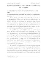 PHÂN TÍCH TÌNH HÌNH TÀI CHÍNH CÔNG TY CP CƠ KHÍ CHÍNH XÁC BÁCH KHOA