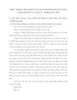 THỰC TRẠNG  HOẠT ĐỘNG SẢN XUẤT KINH DOANH NĂNG LỰC CẠNH TRANH CỦA CÔNG TY  TNHH NGỌC HOA