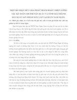MỘT SỐ NHẬN XÉT GIẢI PHÁP NHẰM HOÀN THIỆN CÔNG TÁC KẾ TOÁN CHI PHÍ SẢN XUẤT VÀ TÍNH GIÁ THÀNH SẢN XUẤT SẢN PHẨM XÂY LẮP TẠI DNTN NAM NGÂN