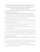 NHỮNG LÝ LUẬN CHUNG VỀ KẾ TOÁN CHI PHÍ SẢN XUẤT VÀ TÍNH GIÁ THÀNH SẢN XUẤT SẢN PHẨM TẠI CÁC DOANH NGHIỆP XÂY DỰNG CƠ BẢN