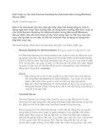 Kích hoạt và cấu hình Remote Desktop for Administration trong Windows Server 2003