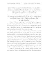 HOÀN THIỆN KẾ TOÁN CHI PHÍ SẢN XUẤT VÀ TÍNH GIÁ THÀNH SẢN PHẨM XÂY LẮP Ở CÔNG TY CỔ PHẤN XÂY DỰNG HẠ TẦNG KỸ THUẬT SÔNG HỒNG