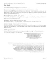Bài tập cơ sở dữ liệu - Khoa Hệ Thống Thông Tin