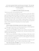 LÝ LUẬN CHUNG VỀ KẾ TOÁN TÀI SẢN CỐ ĐỊNH    VÀ VẤN ĐỀ NÂNG CAO HIỆU QUẢ SỬ DỤNG TÀI SẢN CỐ ĐỊNH TRONG CÁC DOANH NGHIỆP