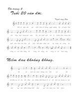 Bài hát dã tràng 4 - Trịnh Công Sơn (lời bài hát có nốt)