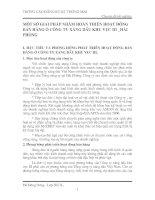 MỘT SỐ GIẢI PHÁP NHẰM HOÀN THIỆN HOẠT ĐỘNG BÁN HÀNG Ở CÔNG TY XĂNG DẦU KHU VỰC III _HẢI PHÒNG