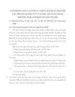 GIẢI PHÁP NÂNG CAO CHẤT LƯỢNG TÍN DỤNG ĐỐI VỚI CÁC DOANH NGHIỆP VỪA VÀ NHỎ TẠI NGÂN HÀNG THƯƠNG MẠI CỔ PHẦN SÀI GÒN HÀ NỘI