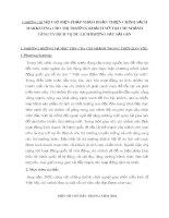 CHƯƠNG III MỘT SỐ BIỆN PHÁP NHẰM HOÀN THIỆN CHÍNH SÁCH MARKETING CHO THỊ TRƯỜNG KHÁCH MỸ TẠI CHI NHÁNH CễNG TY DỊCH VỤ DU LỊCH ĐƯỜNG SẮT SÀI GềN