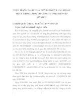 THỰC TRẠNG HẠCH TOÁN TIỀN LƯƠNG VÀ CÁC KHOẢN TRÍCH THEO LƯƠNG TẠI CÔNG TY TNHH TIẾP VẬN VINAFCO