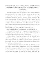 MỘT SỐ KIẾN NGHỊ VÀ GIẢI PHÁP NHẰM NÂNG CAO HIỆU QUẢ CỦA CÁC HÌNH THỨC TRẢ LƯƠNG TRẢ CÔNG TẠI NHÀ MÁY THUỐC LÁ THĂNG LONG