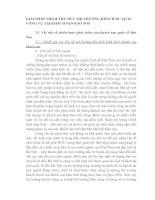 GIẢI PHÁP NHẰM THU HÚT THỊ TRƯỜNG KHÁCH DU LỊCH CÔNG VỤ TẠI KHÁCH SẠN BẢO SƠN