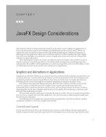 JavaFX Design Considerations