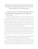 MỘT SỐ Ý KIẾN VÀ NHẬN XÉT NHẰM HOÀN THIỆN CÔNG TÁC KẾ TOÁN TẬP HỢP CHI PHÍ SẢN XUẤT VÀ TÍNH GIÁ THÀNH Ở CÔNG TY CẦU I THĂNG LONG